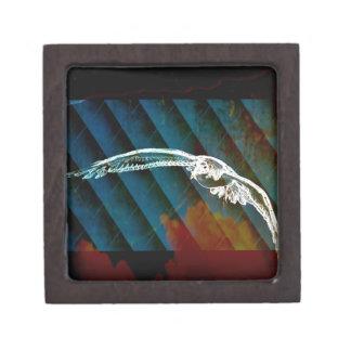 Marine-Blau-abstrakte Ozean-Vögel, die Seemöwe Kiste
