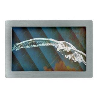 Marine-Blau-abstrakte Ozean-Vögel, die Seemöwe Rechteckige Gürtelschnalle