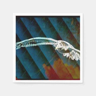 Marine-Blau-abstrakte Ozean-Vögel, die Seemöwe Serviette