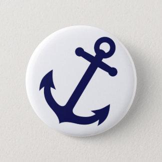 Marine-Blau-Anker Runder Button 5,7 Cm