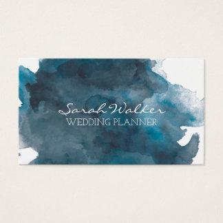 Marine-Blau-Aquarell-Visitenkarte Visitenkarte