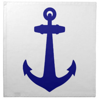 Marine-Blau auf weißem Küstenanker Serviette