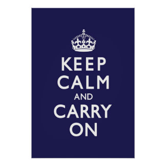 Marine-Blau behält Ruhe und macht weiter Poster