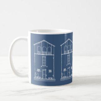 Marine-Blau des einfaches rustikales Haus-modernes Kaffeetasse