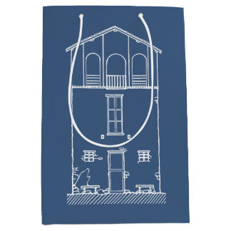 Marine-Blau des einfaches rustikales Haus-modernes Mittlere Geschenktüte