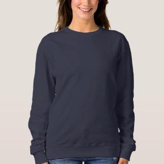 MARINE-BLAU DIY das Sweatshirt der Frauen