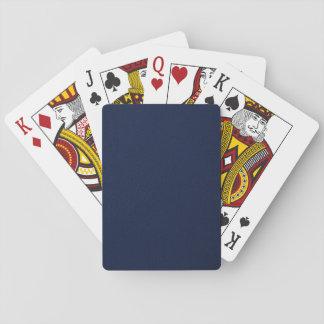 Marine-Blau-holperiges Muster Spielkarten