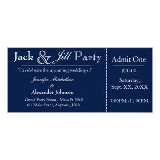 Marine-Blau-Jack-und Jill-Duschen-Karten-Einladung Werbekarte