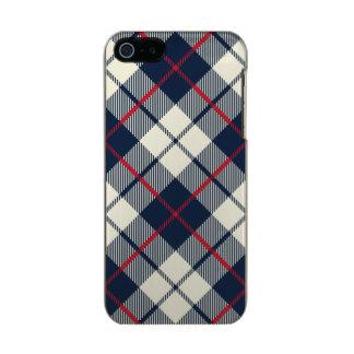 Marine-Blau-kariertes Muster Incipio Feather® Shine iPhone 5 Hülle