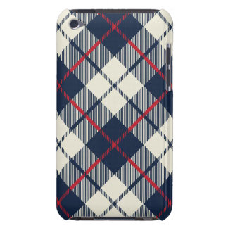 Marine-Blau-kariertes Muster iPod Touch Case-Mate Hülle