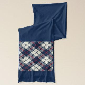 Marine-Blau-kariertes Muster Schal
