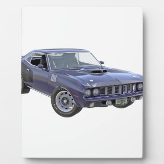 Marine-Blau-Muskel-Auto 1971 Fotoplatte