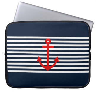Marine-Blau nautisch Laptop Sleeve Schutzhüllen