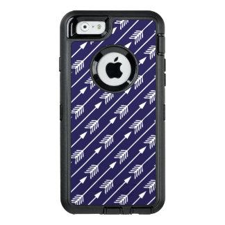Marine-Blau-Pfeil-Muster OtterBox iPhone 6/6s Hülle
