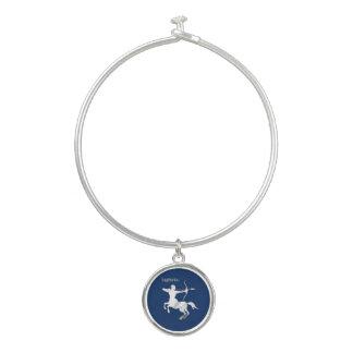 Marine-Blau-Schütze-Tierkreis Armreif