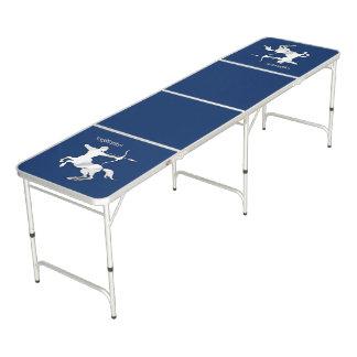 Marine-Blau-Schütze-Tierkreis Beer Pong Tisch
