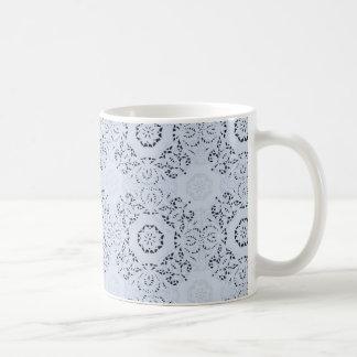 Marine-Blau-Spitze-eleganter und hoch entwickelter Kaffeetasse