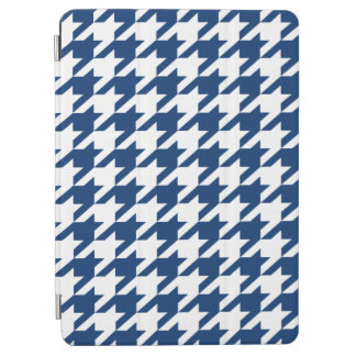 Marine-Blau-Stimmungs-Hahnentrittmuster iPad Air Cover