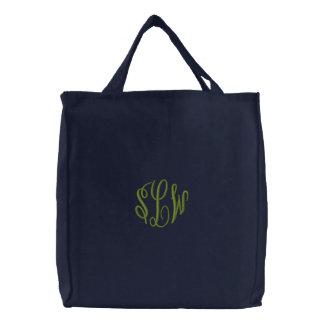 Marine-Blau-Taschen-Tasche mit gesticktem Tasche