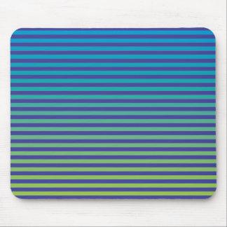 Marine-Blau, Türkis, gelbe (Steigung) Streifen Mousepad