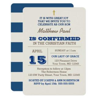 Marine-Blau u. Silber-Bestätigungs-Einladung 12,7 X 17,8 Cm Einladungskarte