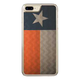 Marine-Blau und gebürstetes Metall Chev Carved iPhone 8 Plus/7 Plus Hülle