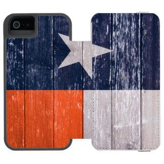 Marine-Blau und gemaltes altes Holz Orangen-Texas Incipio Watson™ iPhone 5 Geldbörsen Hülle