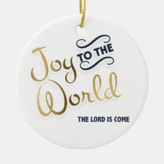 Marine-Blau-und Goldfreude zur Welt der Lord wird Keramik Ornament
