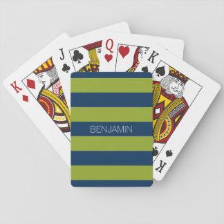 Marine-Blau und Limoner grüner Spielkarten