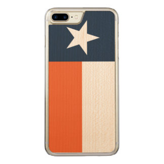 Marine-Blau und Orange Carved iPhone 8 Plus/7 Plus Hülle
