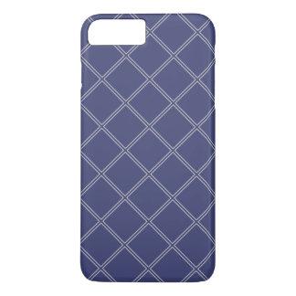 Marine-Blau und silberne geometrische iPhone 8 Plus/7 Plus Hülle