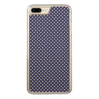 Marine-Blau-und Weiß-Tupfen-Muster Carved iPhone 8 Plus/7 Plus Hülle