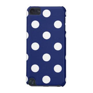 Marine-Blau-und Weiß-Tupfen-Muster iPod Touch 5G Hülle