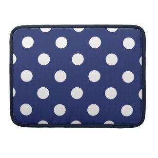 Marine-Blau-und Weiß-Tupfen-Muster MacBook Pro Sleeve