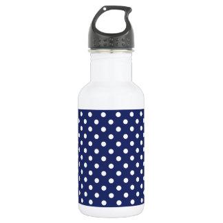 Marine-Blau-und Weiß-Tupfen-Muster Trinkflasche