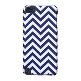 Marine-Blau-und Weiß-Zickzack-Streifen-Zickzack iPod Touch 5G Hülle