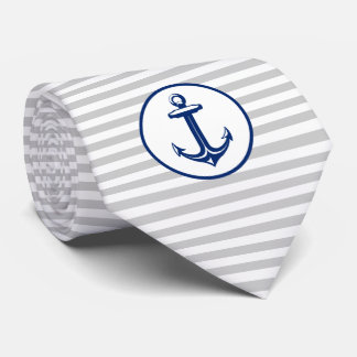 Marine-Blau-Weiß-Anker Krawatte