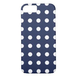 Marine-Blau-weißer schicker Tupfen iPhone 7 Kasten iPhone 8/7 Hülle