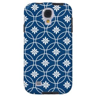 Marine-Blau-weißes geometrisches Muster Galaxy S4 Hülle