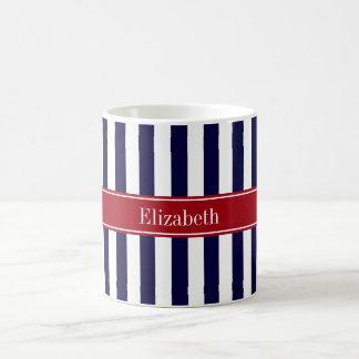 Marine-Blau-weißes Tasse