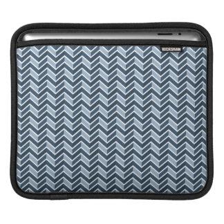 Marine-Blau-Zickzack Muster iPad Sleeve