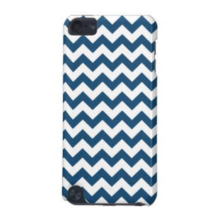 Marine-Blau-Zickzack Stripes Zickzack Muster iPod Touch 5G Hülle