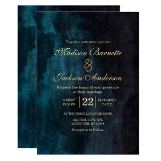 Marine-Blauaquamarine 12,7 X 17,8 Cm Einladungskarte