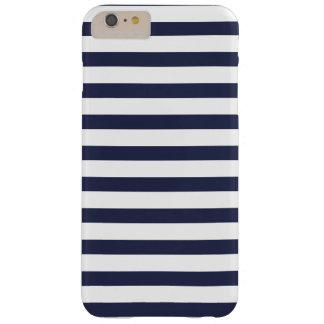 Marine-blaue Streifen Barely There iPhone 6 Plus Hülle