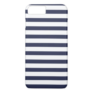 Marine-blaue Streifen iPhone 7 Plus Hülle