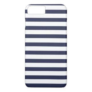 Marine-blaue Streifen iPhone 8 Plus/7 Plus Hülle