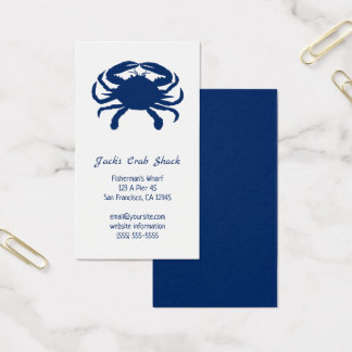 Marine-blaue Visitenkarte