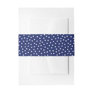 Marine-Blauund Weißconfetti-Punkt-Muster Einladungsbanderole
