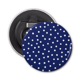 Marine-Blauund Weißconfetti-Punkt-Muster Flaschenöffner