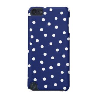 Marine-Blauund Weißconfetti-Punkt-Muster iPod Touch 5G Hülle